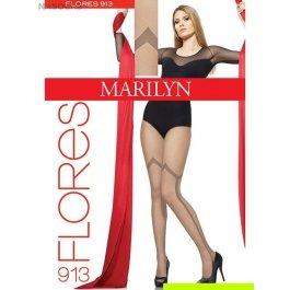 Колготки женские с эффектом тюля, имитация ботфорт Marilyn Flores 913 20 den