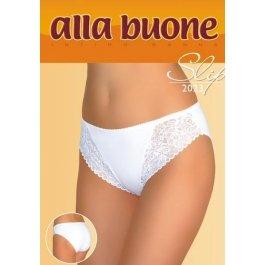 Трусы-слип женские из хлопка, с кружевными вставками и ажурной тесьмой Alla Buone 2023