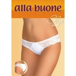 Трусы-слип женские из хлопка, с кружевными вставками и бантиком Alla Buone 6015