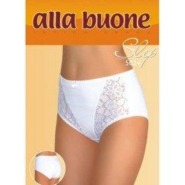 Купить Трусы-слип женские из хлопка, с кружевными вставками и высокой талией Alla Buone 5024