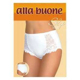Трусы-слип женские из хлопка, с кружевными вставками и высокой талией Alla Buone 5025