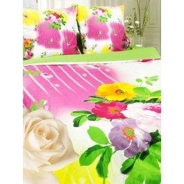Купить Комплект постельного белья с крупными цветами дикой розы Sova и Javoronok 2-х спальный