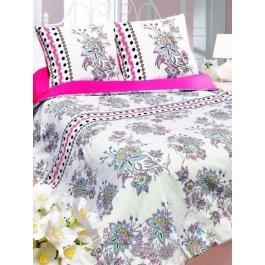 Купить Комплект постельного белья с цветочным принтом и полосками Sova и Javoronok Евро