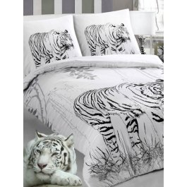 Купить Комплект постельного белья с рисунком белого тигра Sova и Javoronok Семейный