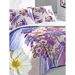 Купить Комплект постельного белья с орнаментом из разноцветных цветов Sova и Javoronok Евро
