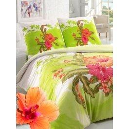 Купить Комплект постельного белья с яркими тропическими цветами Sova и Javoronok 1,5 спальный