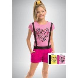Комплект для девочек из хлопка, с коротким рукавом Pelican GATH434