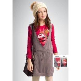 Платье для девочек из искусственной замши, с длинным рукавом Pelican GDJ443