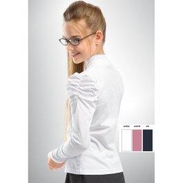 Джемпер для девочек с рукавом, собранным у плеча Pelican GJN447/2