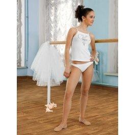 Комплект для девочек (майка-топ, трусы) Charmante SGTP 201032 с принтом