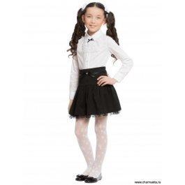 Школьная блузка, школьная форма, для девочек с жабо