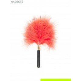 Купить меховая кисть (пластмассовая ручка+перья) размер: 19см бельё эротическое CHARMANTE e05033