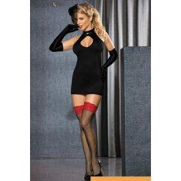 Купить платье+стр.+перч.+вуал.+чулки Caprice Black Bride