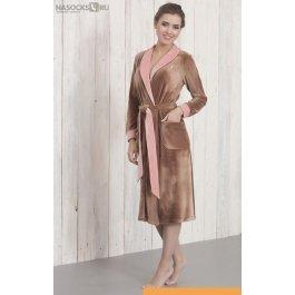Купить халат длинный NicClub Orhidea 1401