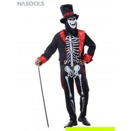 Купить костюм карнавальный для мужчин (Скелет в смокинге) Charmante MCH-1073