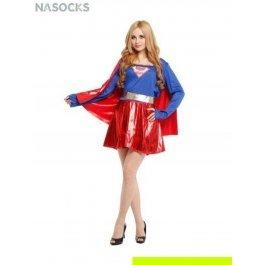 Купить костюм карнавальный для женщин (Суперменша с плащом) Charmante WCH-1157