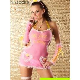 Купить комплект женский (платье, головной убор, перчатки, стринги, чулки) Charmante e8911