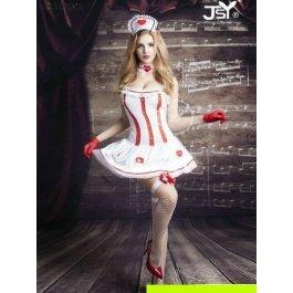 Купить комплект женский (платье, стринги, перчатки, чулки, головной убор, кружево на шею) Charmante e9705