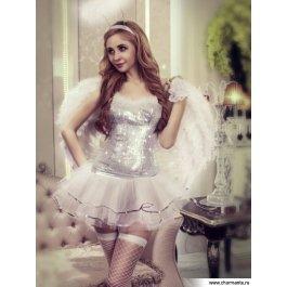 Купить комплект женский (топ, юбка, головной убор, перчатки, стринги, чулки) Charmante e9920