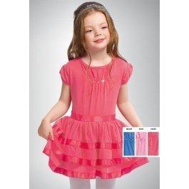 Платье PELICAN GDT346/1 для девочек от 1 до 5 лет с широкой атласной лентой