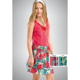 Платье PELICAN GDV439 для девочек от 6 до 11 лет, с имитацией юбочки