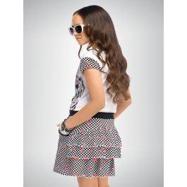 Платье PELICAN GDT458 для девочек от 6 до 11 лет, с рисунком