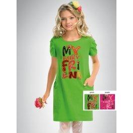 Платье PELICAN GDT436 для девочек от 6 до 11 лет, с веселой надписью