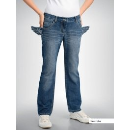 Брюки Pelican GL457 для девочки 6-11 лет, джинсовые