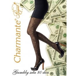 Колготки Charmante GAMBLY seta 80 женские с рисунком