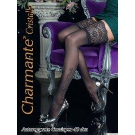 Чулки Charmante CASSIOPEA 40 женские со стразами